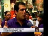 Alfredo Romero dialoga con sectores populares