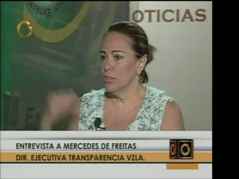 Mercedes de Freitas, de ONG Transparencia Venezuela, defiend