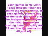 A Full No Limit Texas Holdem Poker Shakedown