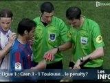 Caen-Toulouse: Le penalty contesté (Foot L1)