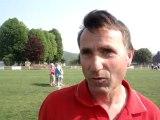 Football, Coupe de l'Oise: D. Garat, entraîneur de Creil après sa victoire sur Breuil 3-1