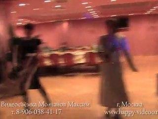 Танцы гостей на свадьбе в ресторане Кардинал