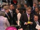 Elton John arrives at the Abbey