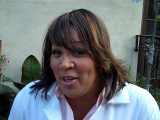 Kym Whitley on the set of A Series of Unfortunate People