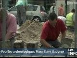 Fouilles archéologiques à la Place Saint Sauveur (Caen)