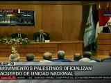 Movimientos palestinos oficializan acuerdo de unidad