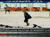 Palestinos felices por acuerdo de unidad