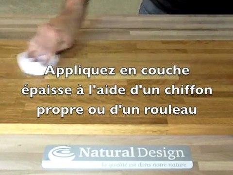 Natural Design - Entretien d'un plan de travail en bois massif huilé