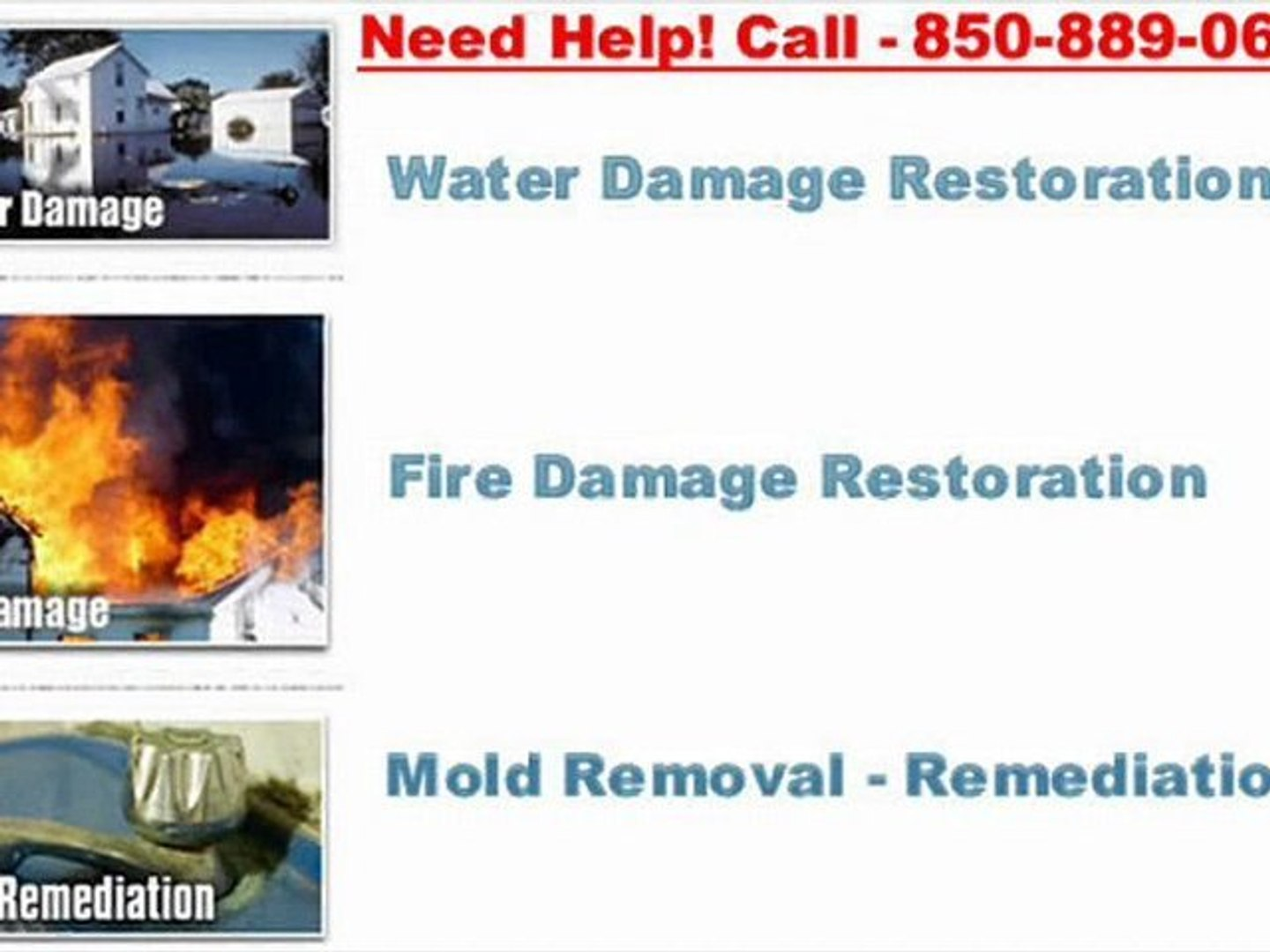 ServiceMaster Clean Pensacola FL - 850-889-0660 Fort Walton Beach Water and Fire Damage Restoration