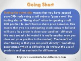 CFDs Going: Long and Going Short