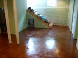 Overlay on Stained Concrete Floor - Fort Wayne, IN