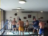 tonyledragons training muay thai au pao,kick boxing,fight
