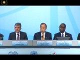 Cumhurbaşkanı Gül, BM Genel Sekreteri Ban Ki-moon ile ortak basın toplantısı düzenledi