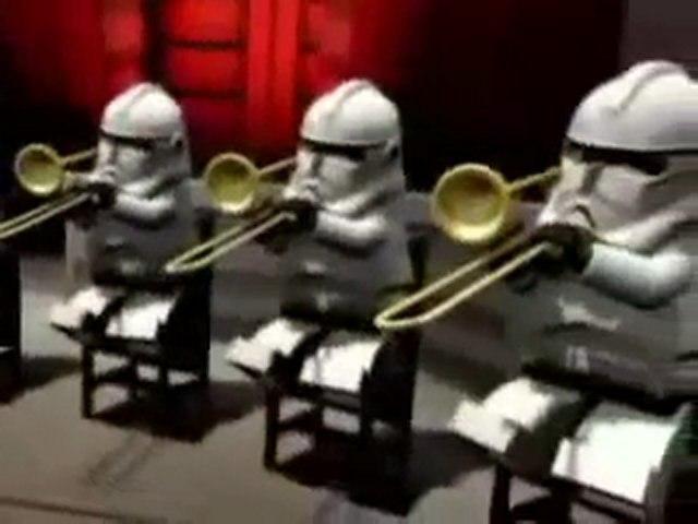 La marcia imperiale suonata dagli omini lego