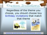 Boy Birthday Invitations for Special Birthday Parties