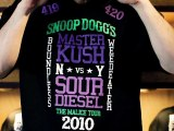 """Boundless NY Presents Snoop Dogg """"The Malice Tour 2010 / Master Kush vs Sour Diesel"""" Limited-Edition Tee-Shirts"""