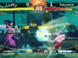 SSFIV Kayane (CH) vs BI.Luffy (RO) BeatByContest Pool 8