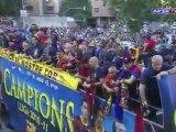 FC Barcelona- rua pels carrers de Barca