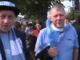 ManCity, la festa dei tifosi dopo la FA Cup