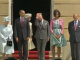 Michelle's dress blows up