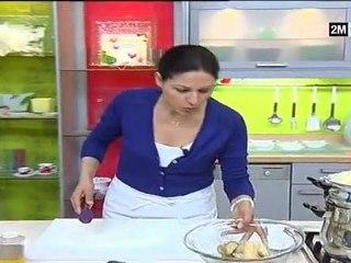 Recette seffa au poulet et aux champignons