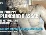 Philippe Ploncard d'Assac: Le Nationalisme Français 2 (2/3) - Radio Courtoisie
