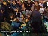 17 mai 2011 - Intervention musclée de la police à Madrid