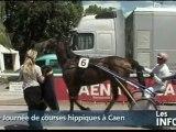 Journée de courses hippiques à Caen