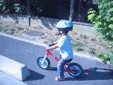 Quentinou et son vélo sans pédale