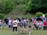 E'Lia des grandes aubes, epagneul breton, concours agility audun le roman le 22 mai 2011,2eme degré