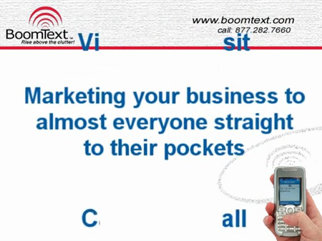 Mobile SMS Marketing Opportunities
