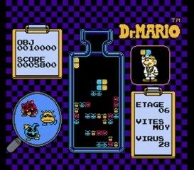 Dr. Mario, NES - Test muet Lyssal