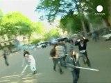 Violentos enfrentamientos de la oposición georgiana con...