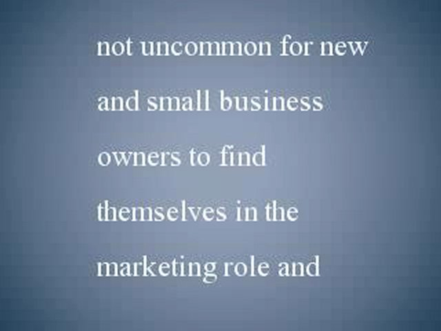 Small Business Marketing – First Steps to Marketing a Small Business
