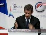 Discours de Nicolas Sarkozy au forum internet pour le G8