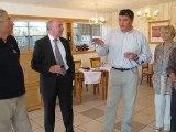 Conty: David Douillet a visité les Ateliers du Val de Selle