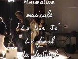 """Le bar jo. Animation musicale du festival """"L'Echo des mots"""" à Pont-du-Fossé"""