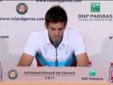 Roland Garros - Del Potro quiere seguir mejorando