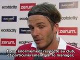 Beckham de retour à Manchester United