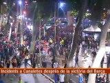 TV3 - Els matins - La font de Canaletes perd un dels quatre brolladors pels aldarulls