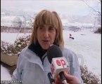 La nieve cierra puertos de montaña en Álava
