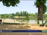 Inauguration des quais de Loire à Cosne-Cours-sur-Loire