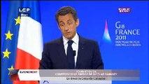 Évènements : Conférence de presse de Nicolas Sarkozy lors du G8