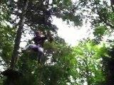 """Lison au saut de Tarzan, parcours rouge """"frisson"""""""