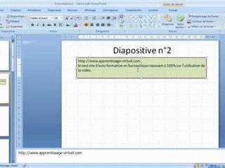 Visionnez les Cours Vidéo de Objet Zone Texte dans Microsoft Powerpoint