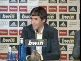 Raúl se despide del Real Madrid entre lágrimas