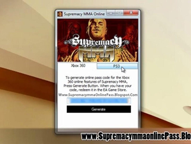 Downlaod Supremacy MMA Online Pass Code Free!
