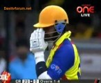 Chennai Rhinos vs. Telugu Warriors  Chennai Rhinos Innings Over02