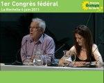 1er Congrès fédéral - Partie 3 - Résultats congrès décentralisé, motions d'orientation et motions ponctuelles