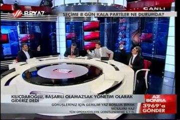 Beyaz TV'de Mehmet Faraç ve Serdar Arseven birbirine küfürler yağdırdı.
